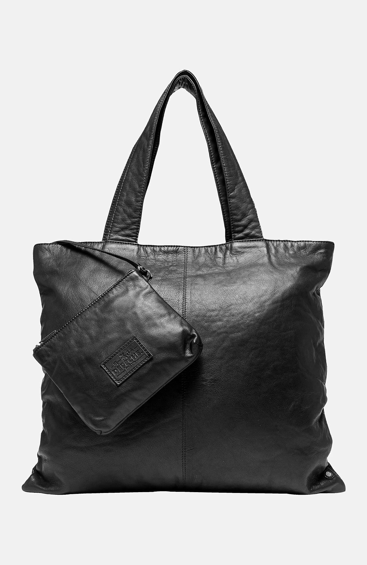 Nahkkott + väike kott