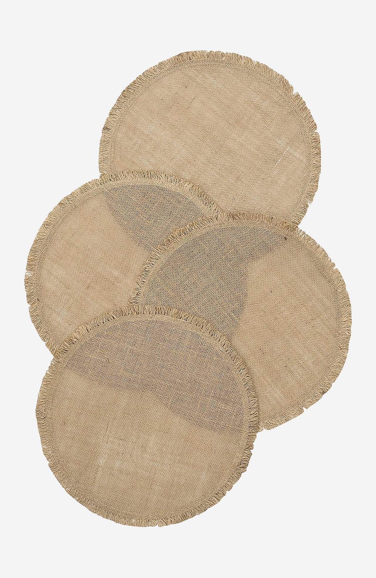 Linasest kangast taldrikualus Ville 4 tk pakis