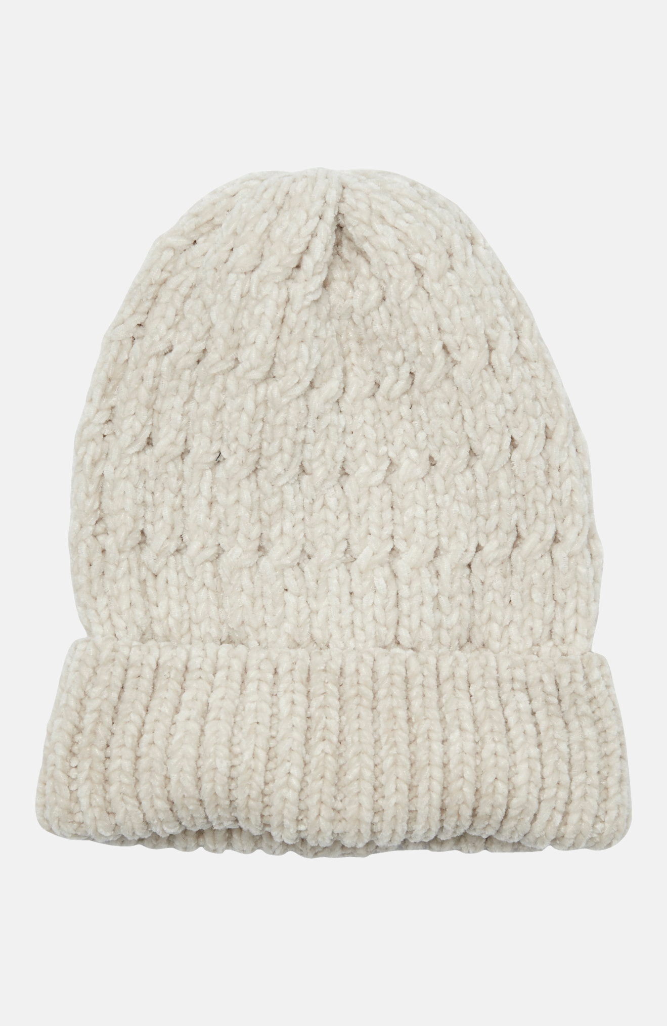 Šenill-lõngast kootud müts
