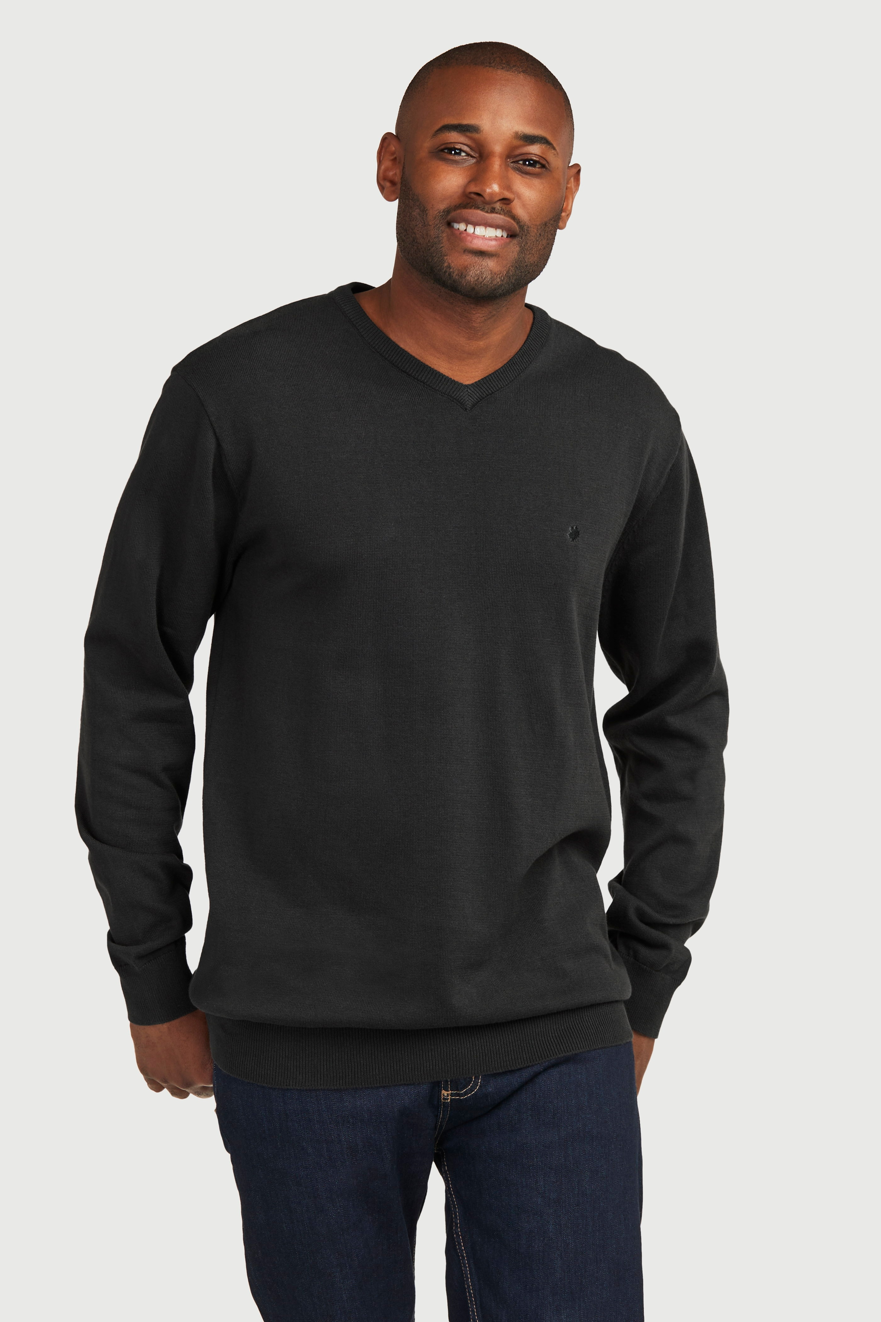 Pikkade varrukate ja V-kaelusega džemper